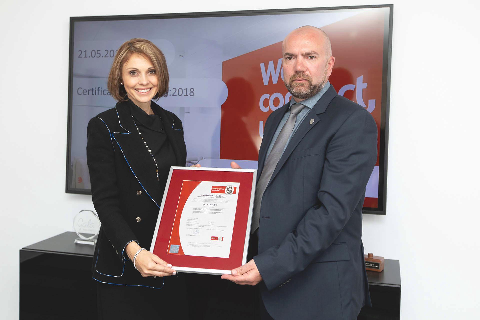 Alexandru Vidu, CEO Bureau Veritas Romania & Dana Sintejudean, CEO Edenred Romania.